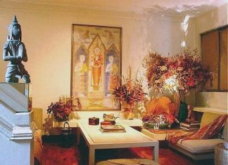 Living space with florals