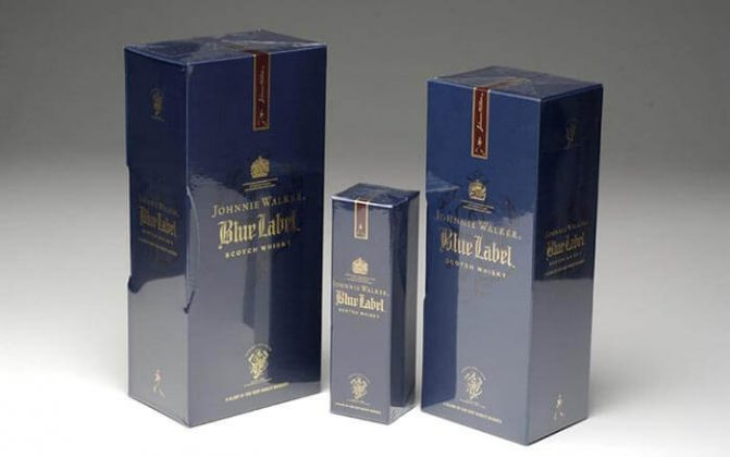 Overwrapped Johnnie Walker Blue Label