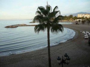 Puerto Banus beach in the evening