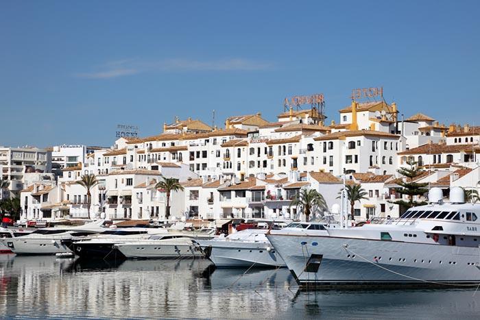 Luxury yachts moored in Puerto Banus, Marbella