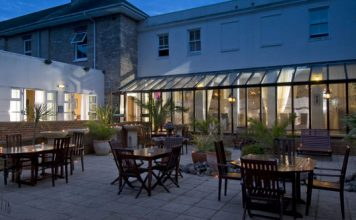 Courtyard at the Orchid Hotel in Bournemouth