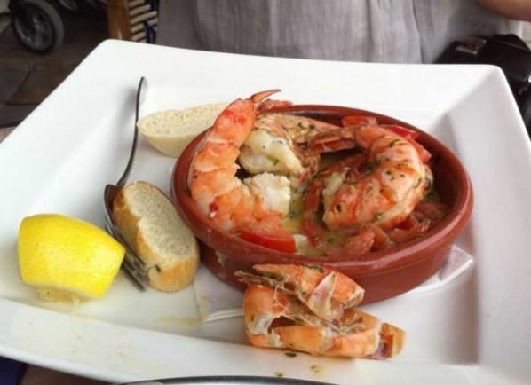 Crevettes at Brasserie Gerard