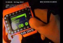 Ultrasonic underwater gauge