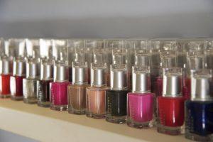 Nail polish colours at Edge Spa
