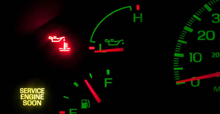 check engine warning light