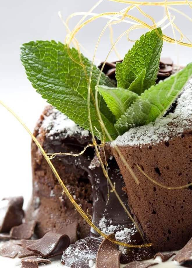 Hot chocolate fondant recipe