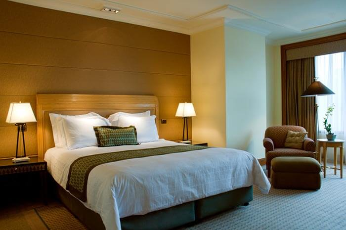 History of hotels - Hotel accommodation with bed