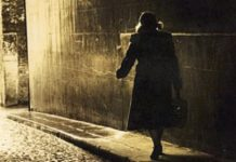 A woman running through the streets of Berlin