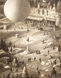 Hot air balloon in The Arrival by Shaun Tan
