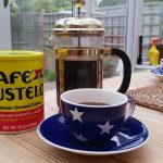 Café Bustelo on the breakfast table