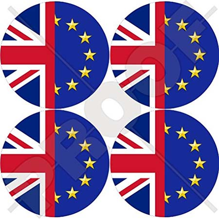 EU UK friendship car bumper stickers