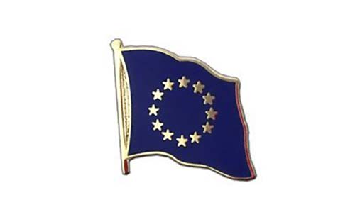 European Union flag tie and dress pin