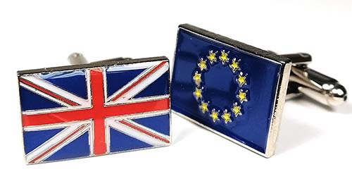 EU UK cufflinks