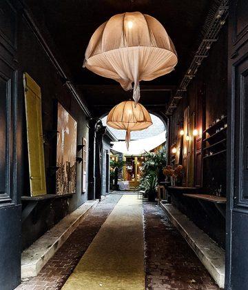 A courtyard in Rouen