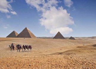 Pyramids on the Giza Plateau