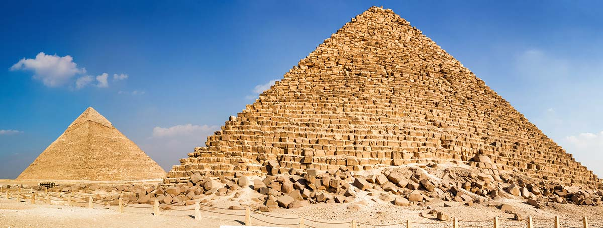 The Pyramid of Menkaure and Khafre's pyramid